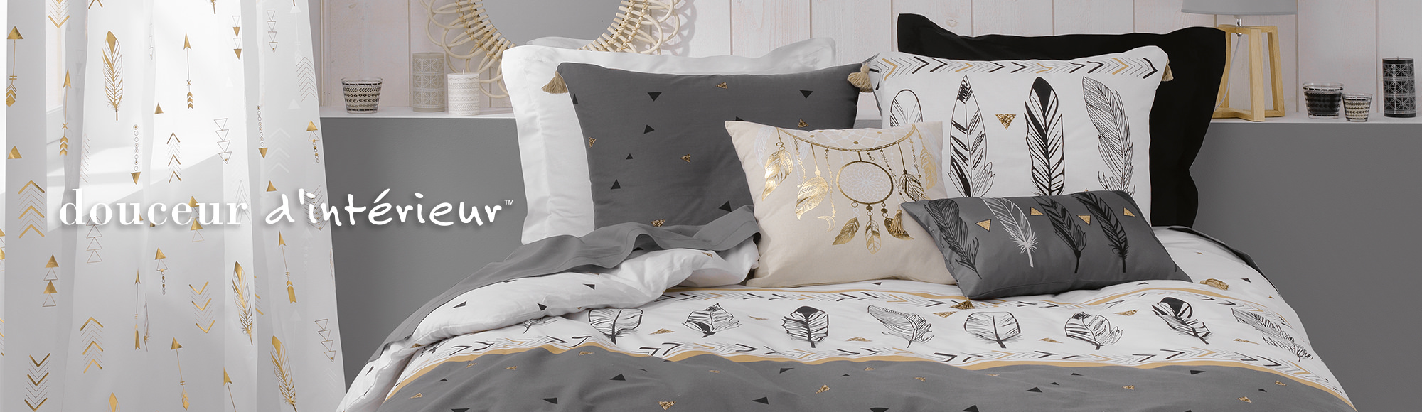 U10 – Douceur d'intérieur brand – bed linen – Boho chic theme – bedroom decoration