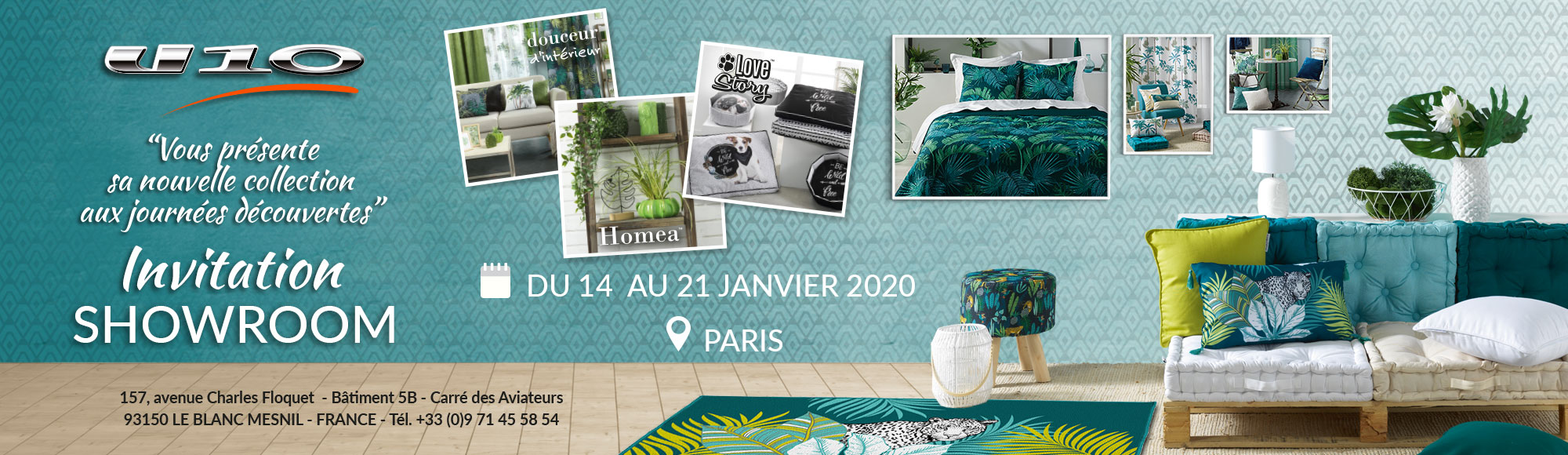 U10 - Porte ouverte - Showroom invitation - du 14 au 21 Janvier 2020 - Paris