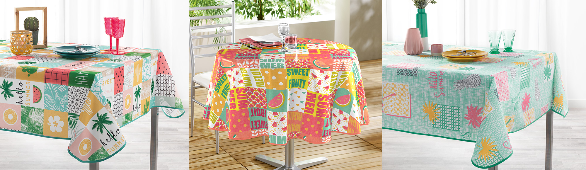 U10 - fournisseur en decoration - douceur d'interieur - linge de table nappes - printemps ete 2020