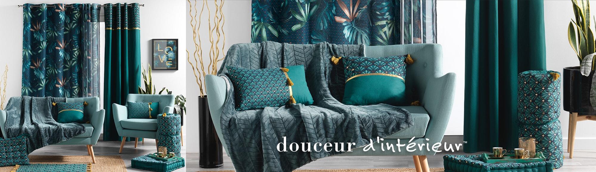 U10 - Fournisseur en décoration d'intérieur - marque douceur d'interieur - ameublement deco - theme blue garden