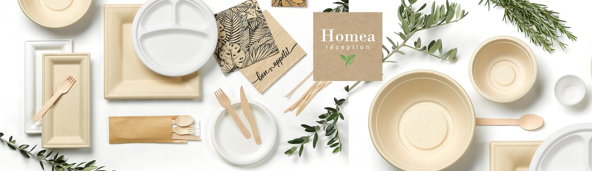 U10 - Fournisseur en décoration d'intérieur - marque homea - reception - vaisselle eco