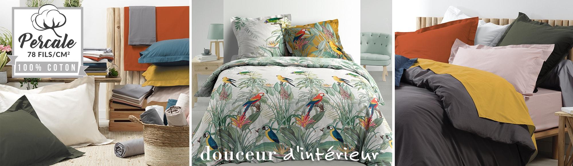 U10 - Fournisseur en décoration d'intérieur - marque douceur d'intérieur - linge de lit - percale