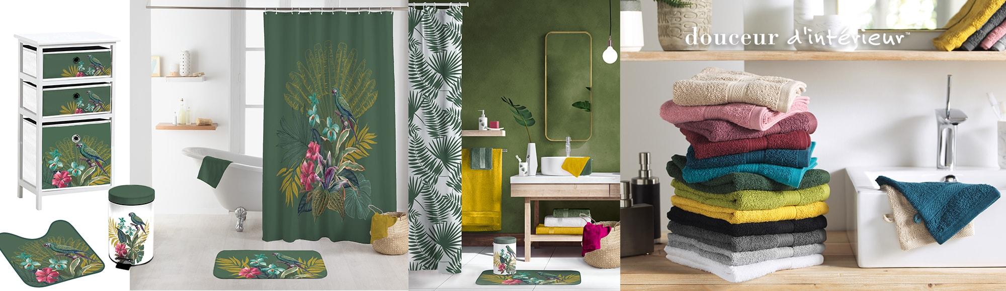 U10 - Fournisseur en décoration d'intérieur - marque douceur d'intérieur - salle de bain - theme equatorial jungly