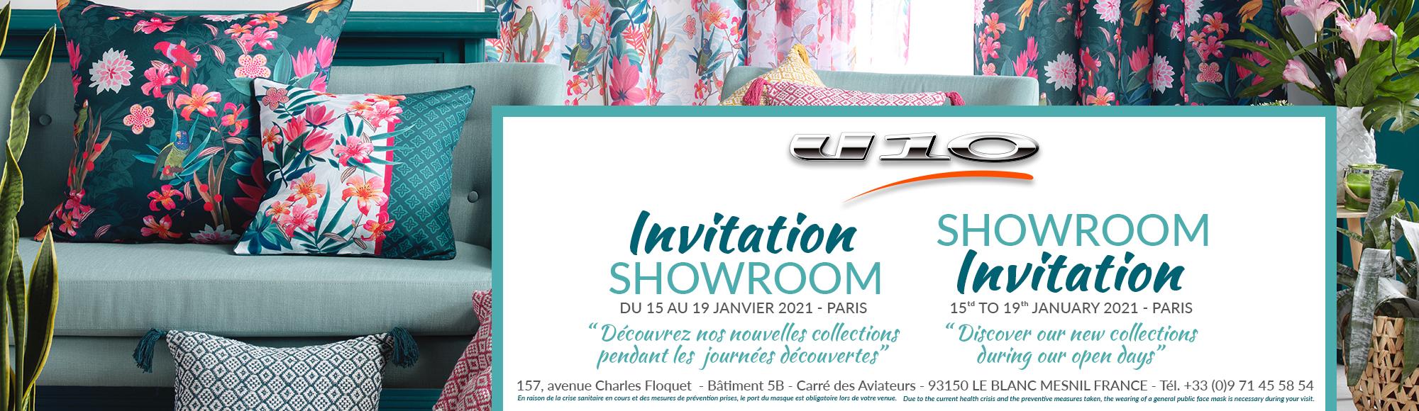 U10 - Fournisseur en décoration d'intérieur - Invitation Showroom Paris - Portes ouvertes - nouvelle collection Janvier 2021