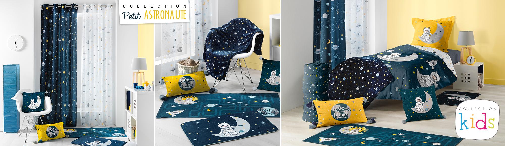 U10 - Fournisseur en decoration d'interieur - marque douceur d'interieur - collection kids - theme complet - petit astronaute