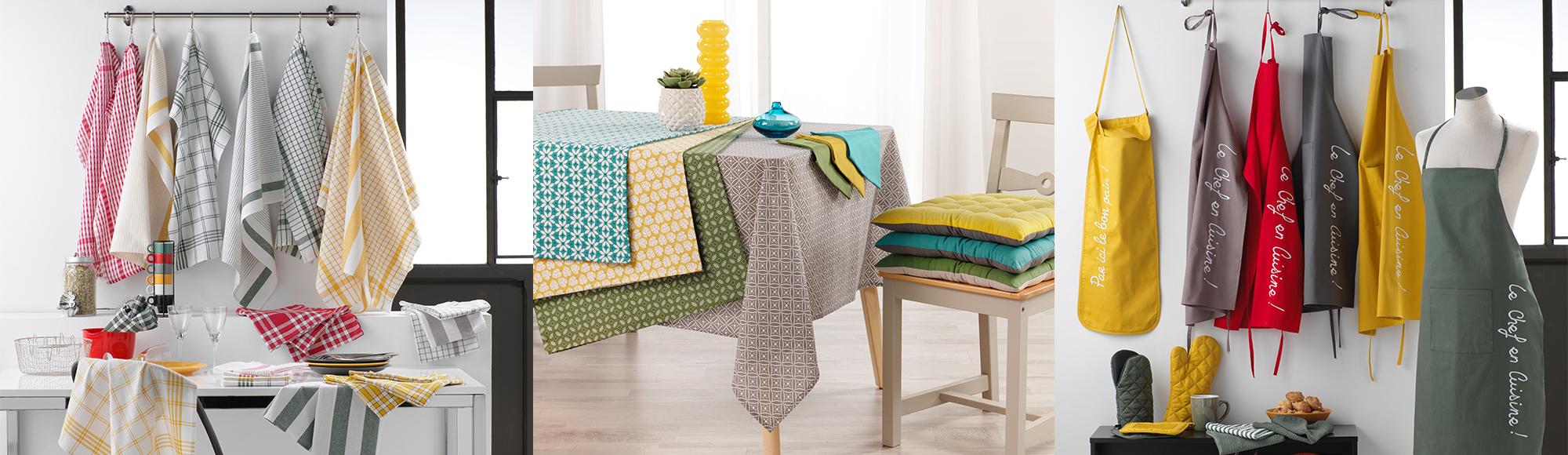 U10 - Fournisseur en decoration d'interieur - marque douceur d'interieur - collection linge de table linge de cuisine