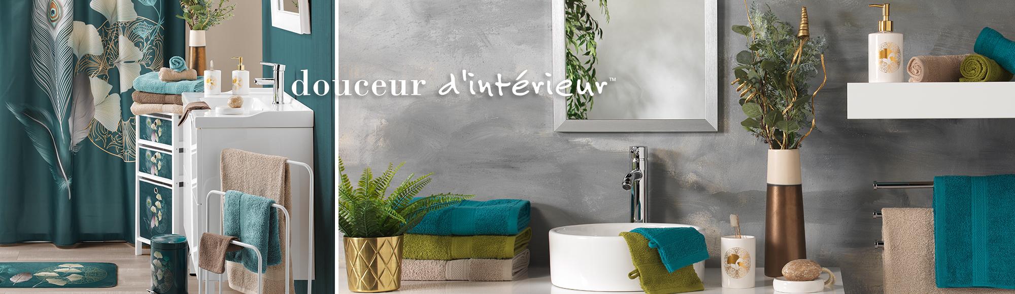 U10 - Fournisseur en décoration d'intérieur - marque douceur d'intérieur - salle de bain - ginkoblue