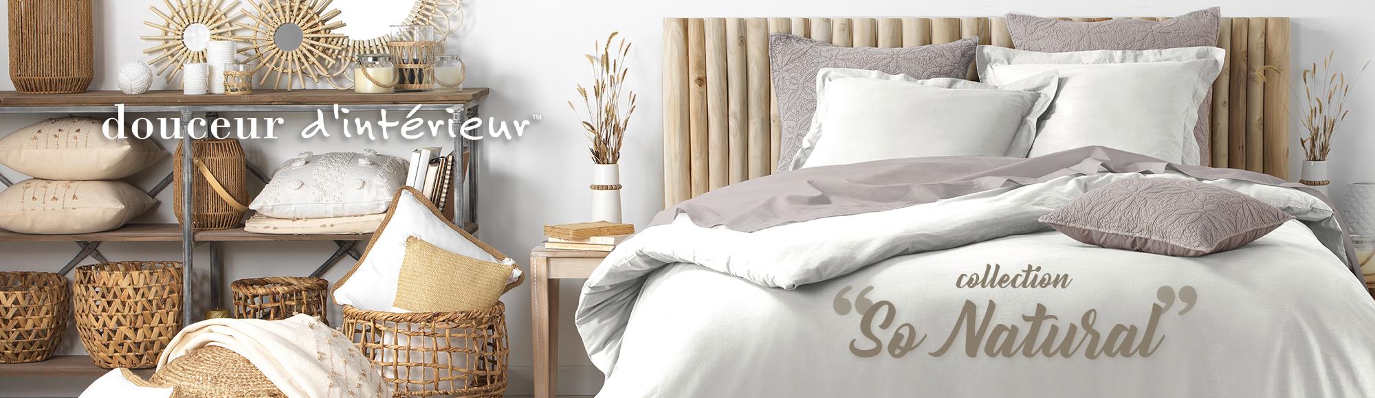 U10 - Fournisseur en décoration d'intérieur - marque douceur d'intérieur - linge de lit - so natural - coton lave