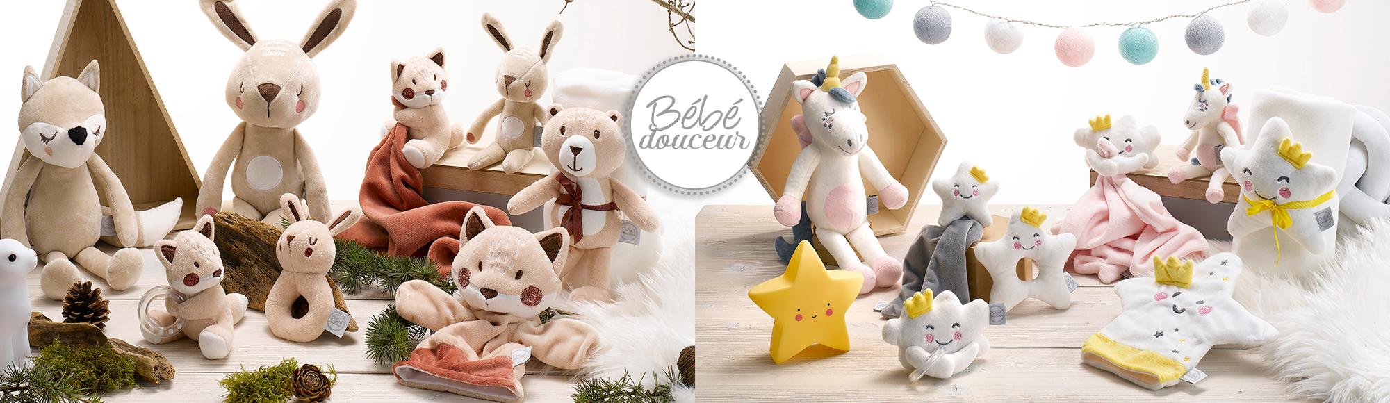 U10 - Fournisseur en décoration d'intérieur - marque bebe douceur - doudou bebe - puericulture
